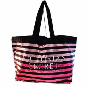 Victoria's Secret Tote Weekender Bag Metallic